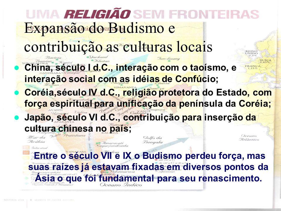 Expansão do Budismo e contribuição as culturas locais