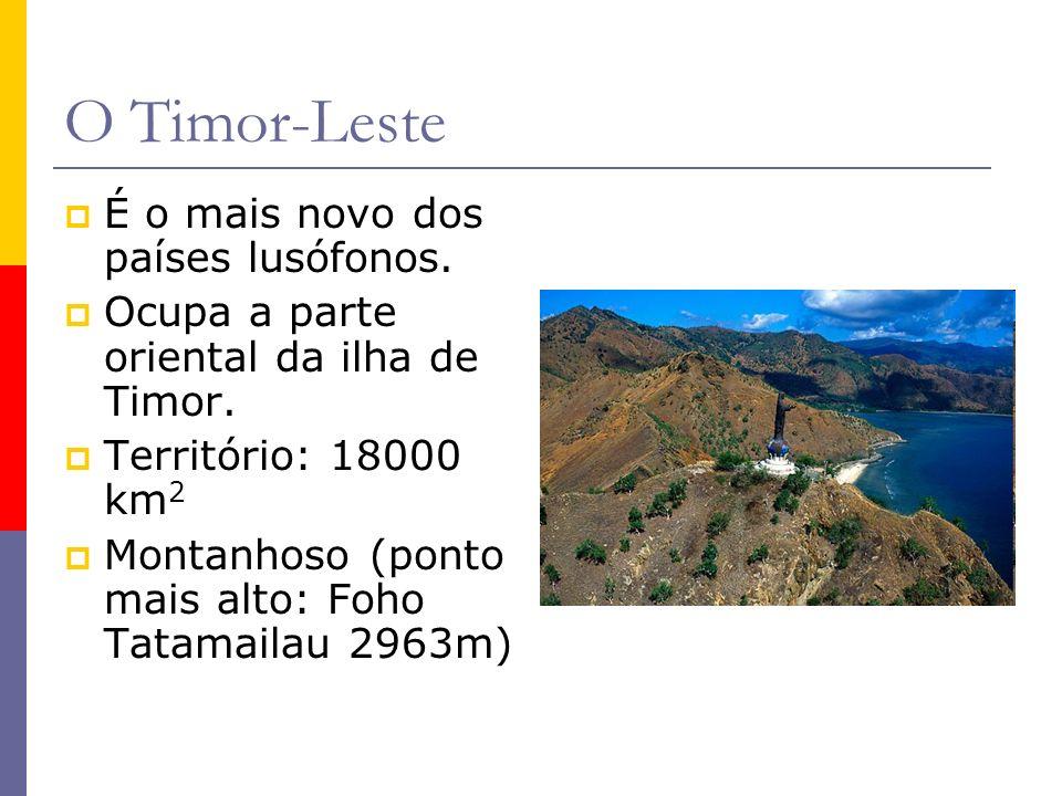O Timor-Leste É o mais novo dos países lusófonos.