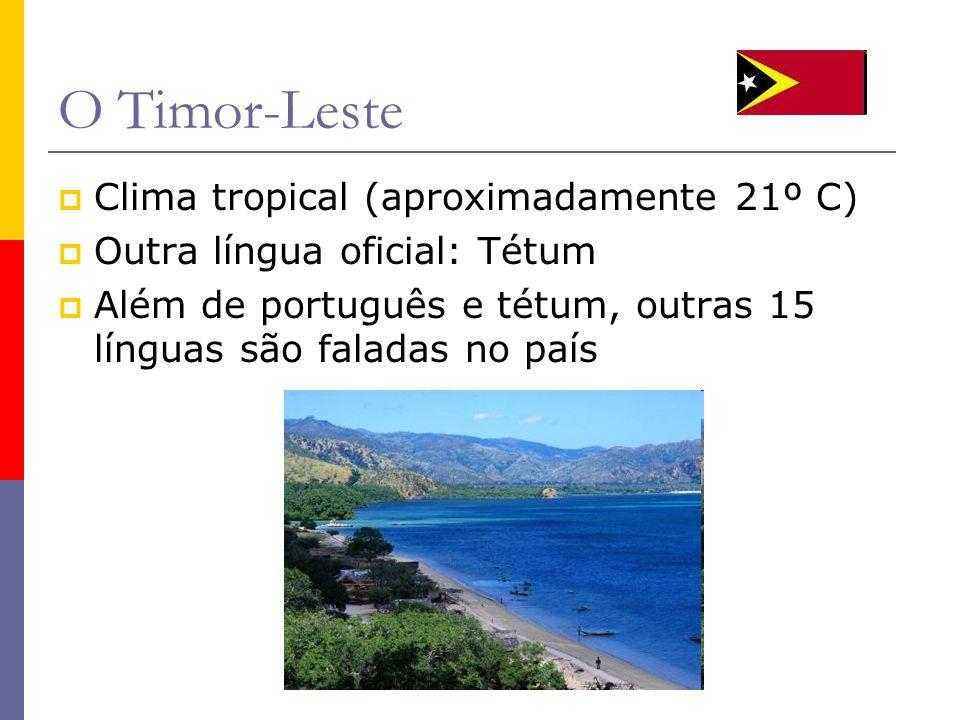 O Timor-Leste Clima tropical (aproximadamente 21º C)