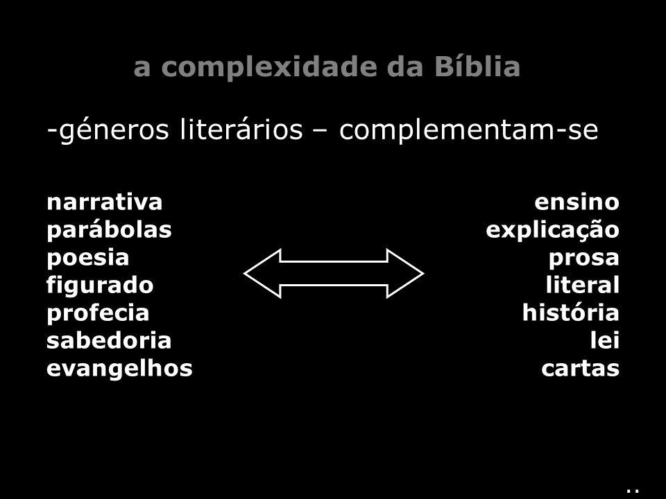 a complexidade da Bíblia