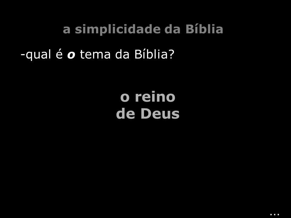 a simplicidade da Bíblia