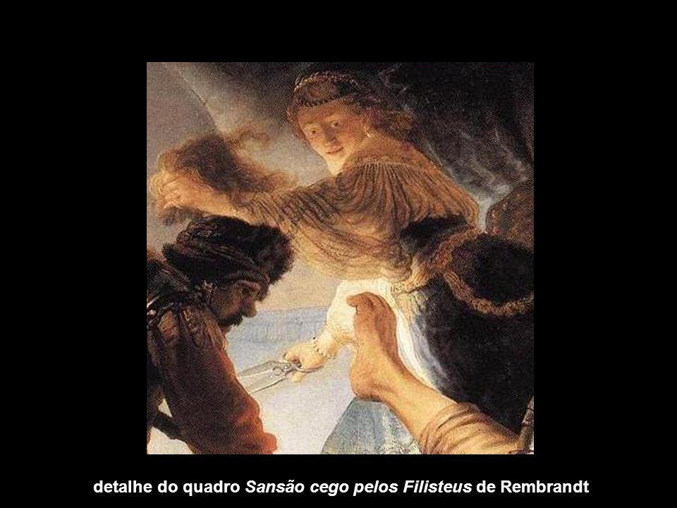 detalhe do quadro Sansão cego pelos Filisteus de Rembrandt