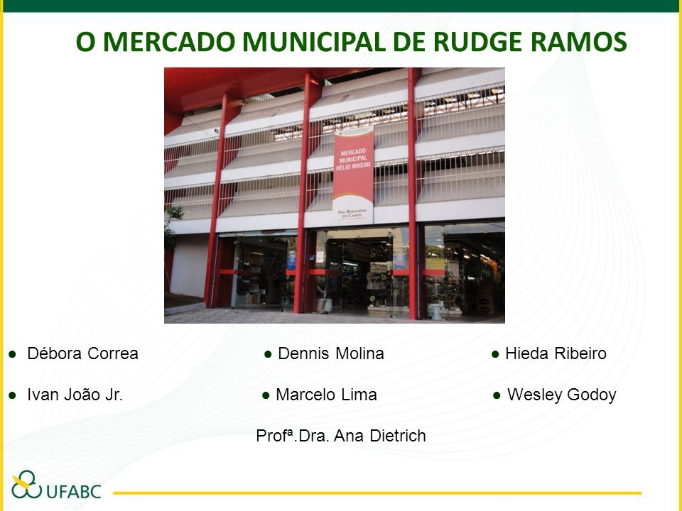 O MERCADO MUNICIPAL DE RUDGE RAMOS