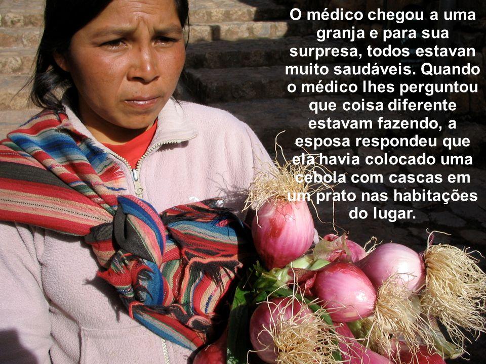 O médico chegou a uma granja e para sua surpresa, todos estavan muito saudáveis.