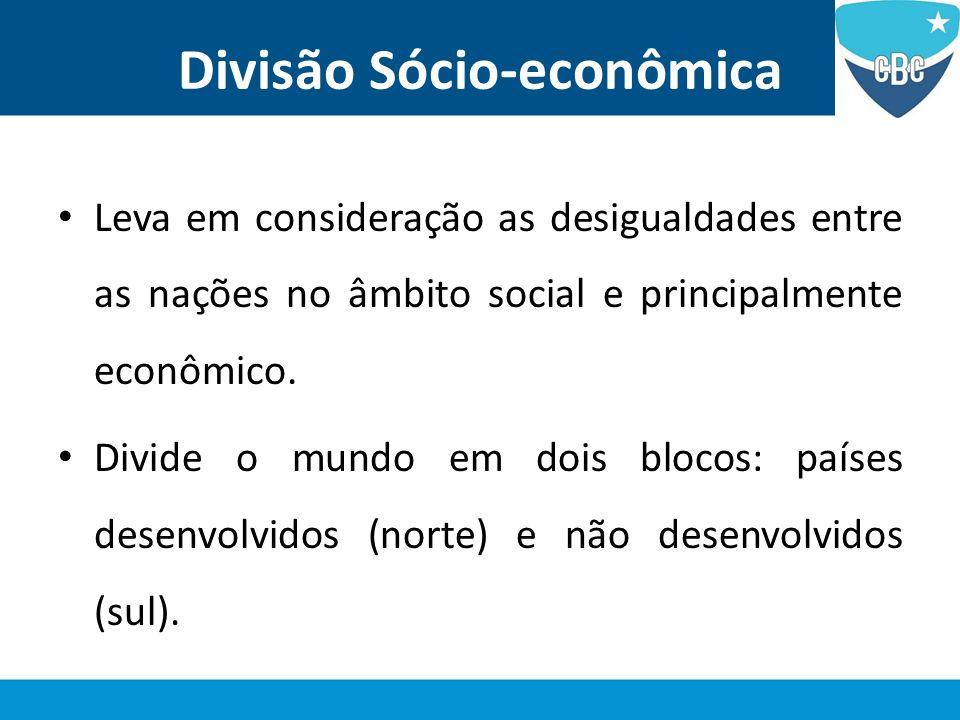Divisão Sócio-econômica