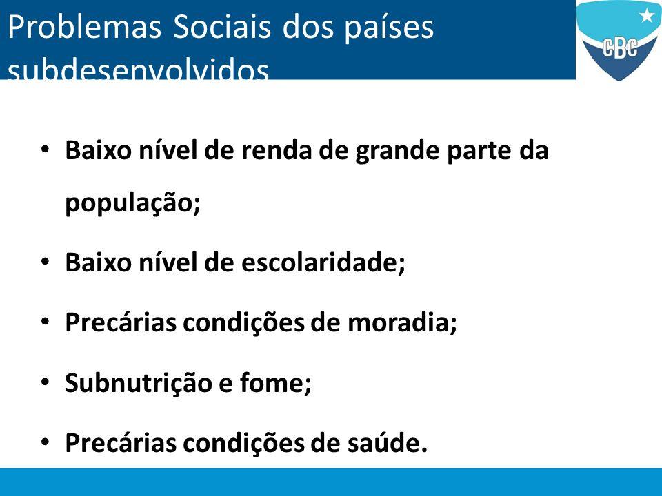 Problemas Sociais dos países subdesenvolvidos