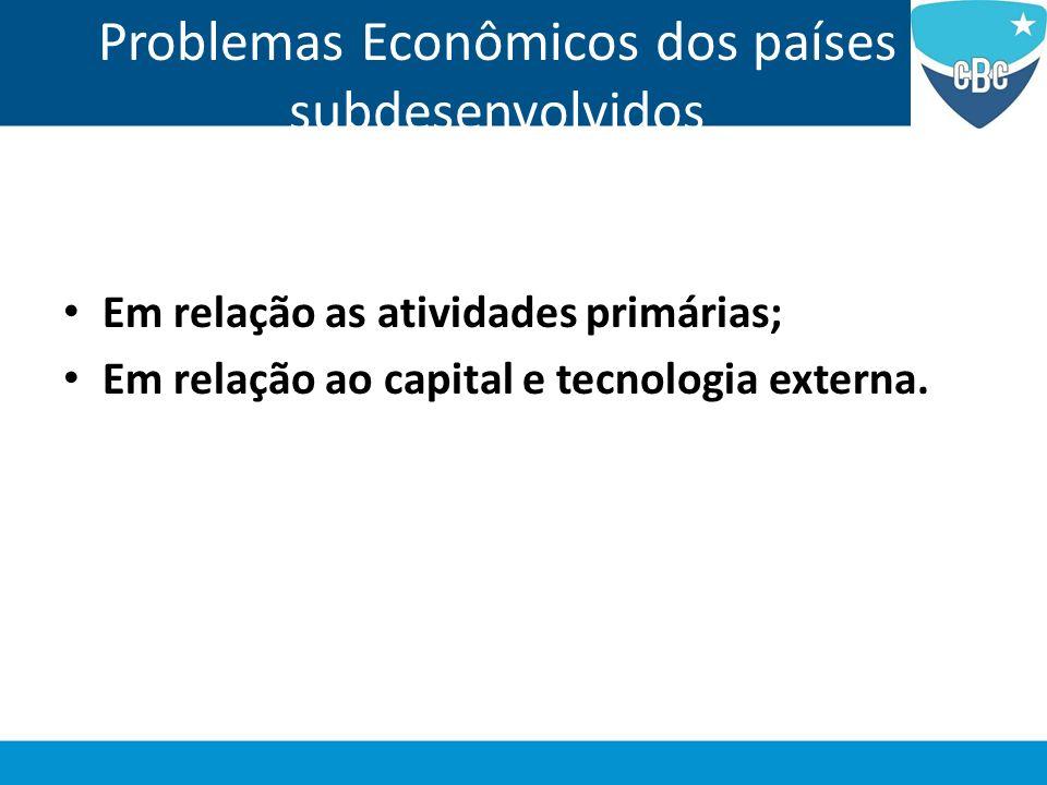Problemas Econômicos dos países subdesenvolvidos