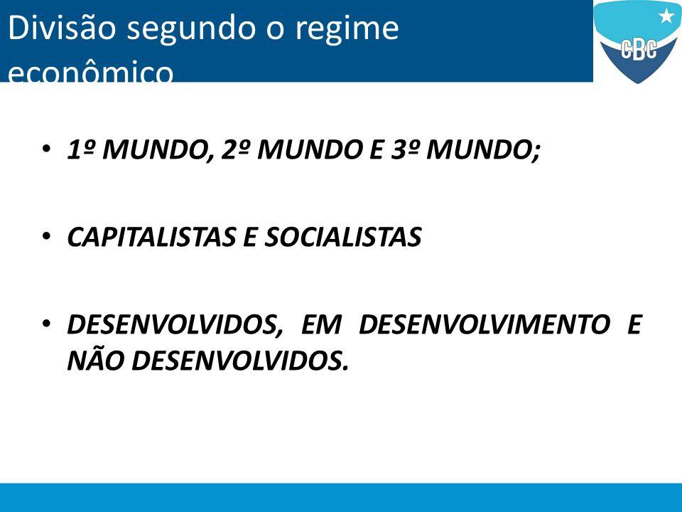 Divisão segundo o regime econômico