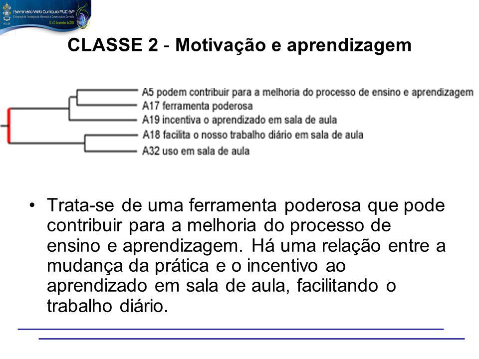 CLASSE 2 - Motivação e aprendizagem