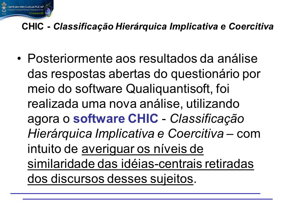 CHIC - Classificação Hierárquica Implicativa e Coercitiva
