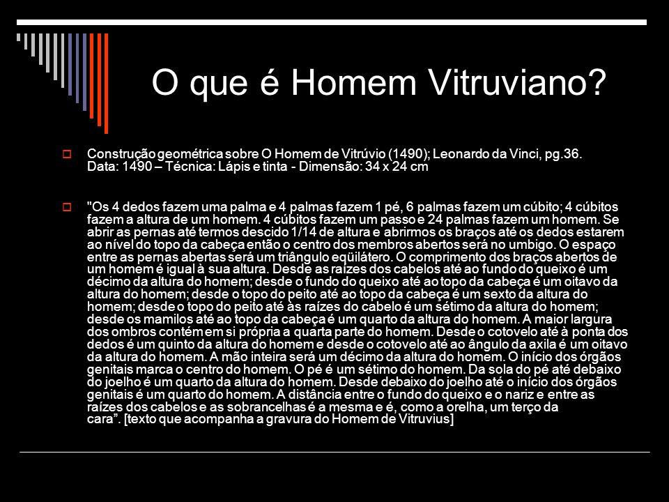 O que é Homem Vitruviano