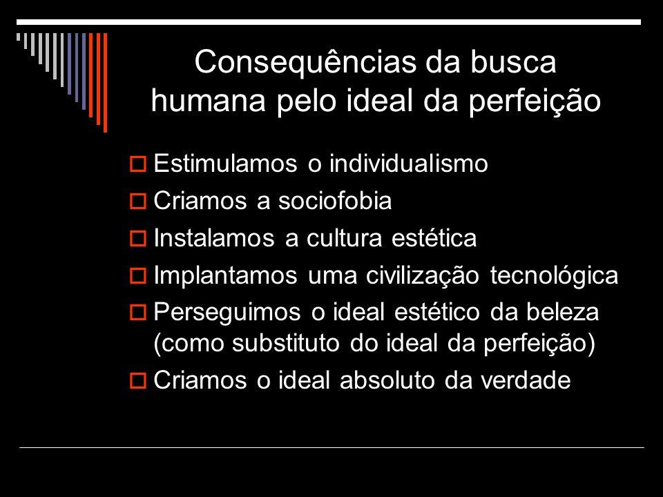 Consequências da busca humana pelo ideal da perfeição