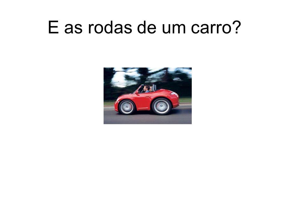 E as rodas de um carro