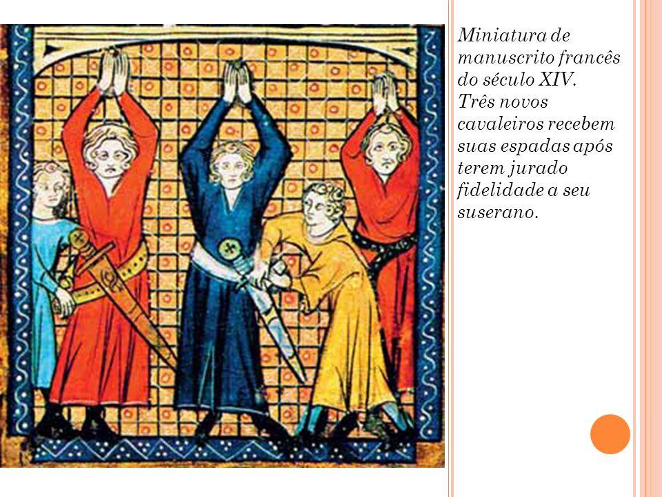 Miniatura de manuscrito francês do século XIV