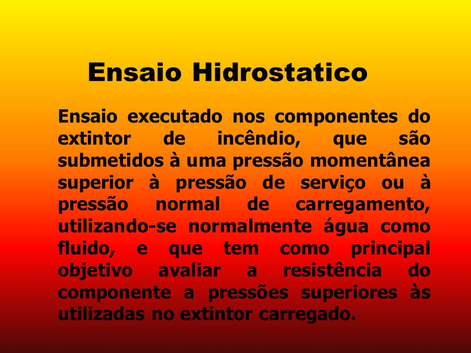 Ensaio Hidrostatico