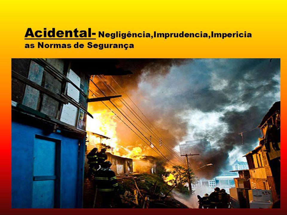 Acidental- Negligência,Imprudencia,Impericia as Normas de Segurança