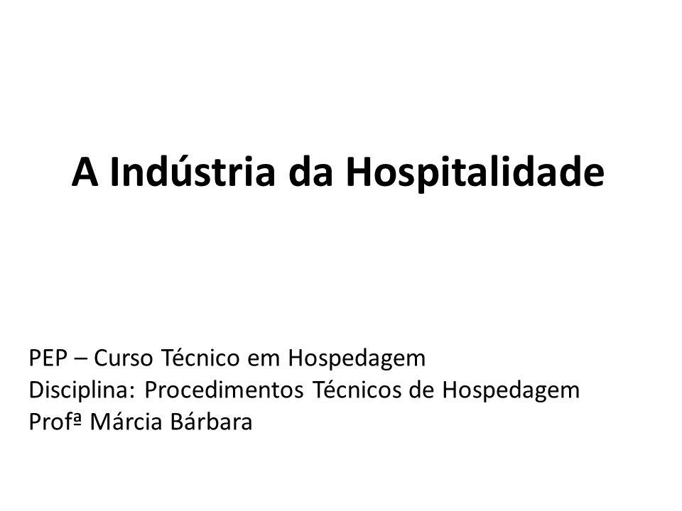 A Indústria da Hospitalidade