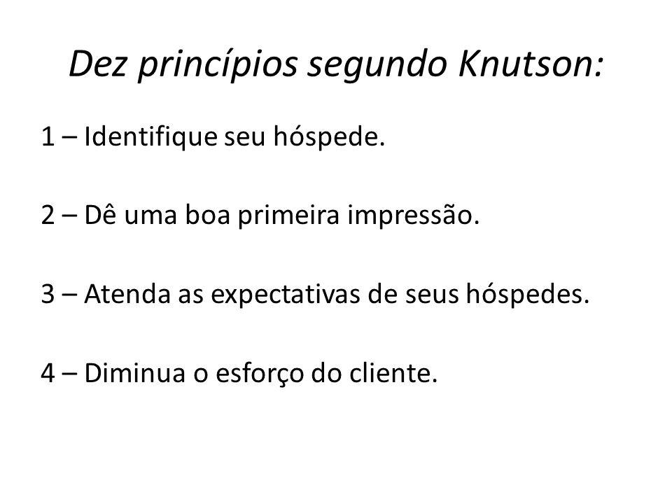 Dez princípios segundo Knutson: