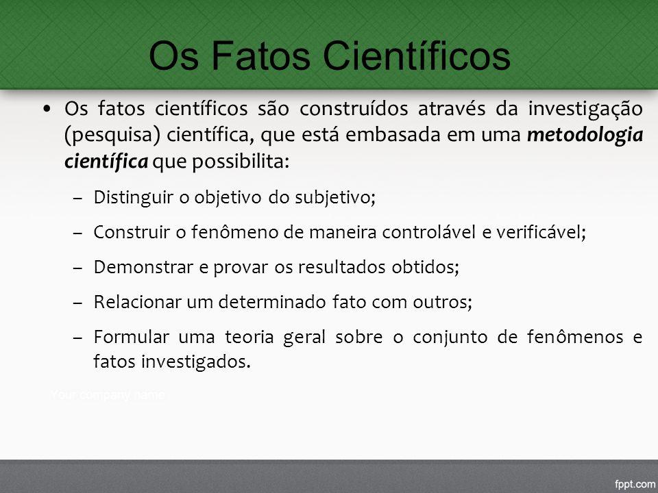 Os Fatos Científicos