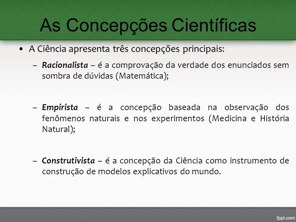 As Concepções Científicas