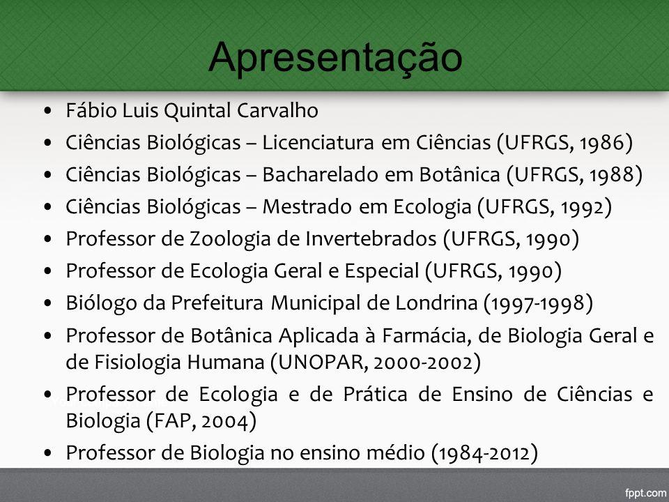 Apresentação Fábio Luis Quintal Carvalho