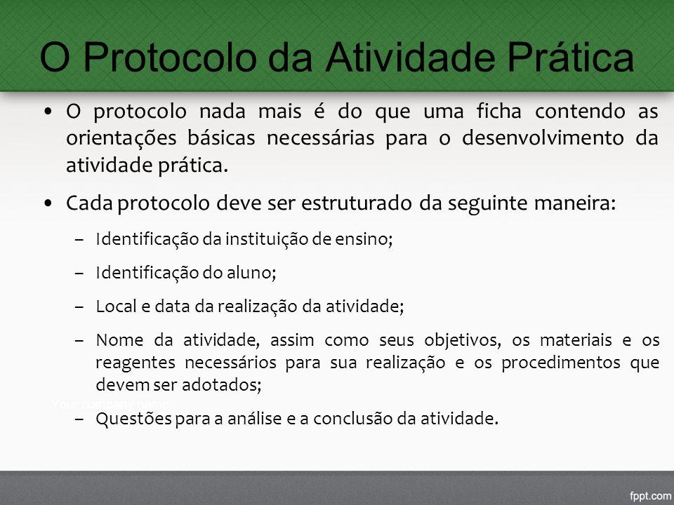 O Protocolo da Atividade Prática