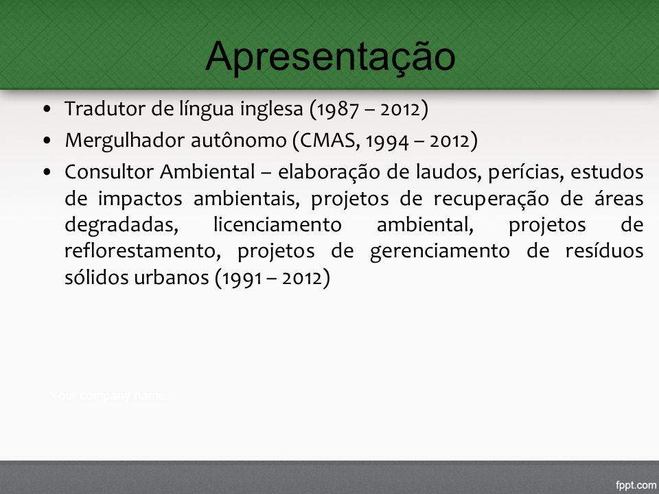 Apresentação Tradutor de língua inglesa (1987 – 2012)