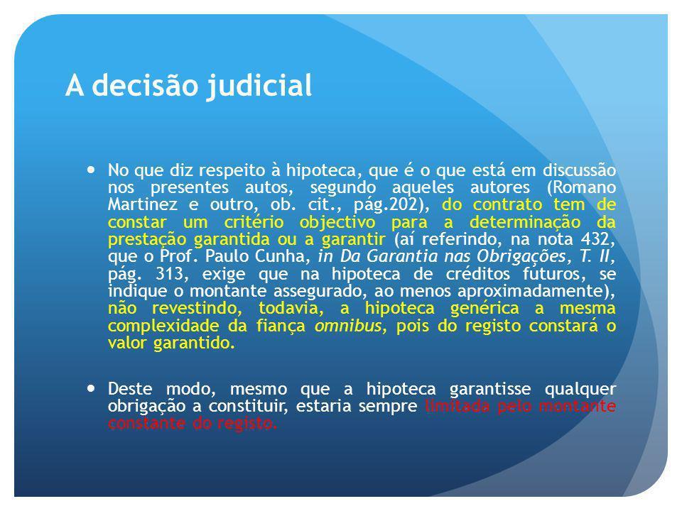 A decisão judicial