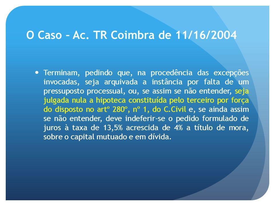 O Caso – Ac. TR Coimbra de 11/16/2004