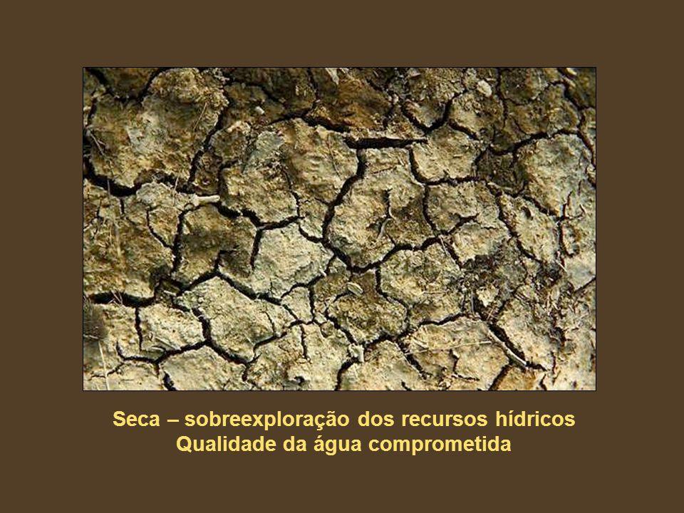 Seca – sobreexploração dos recursos hídricos