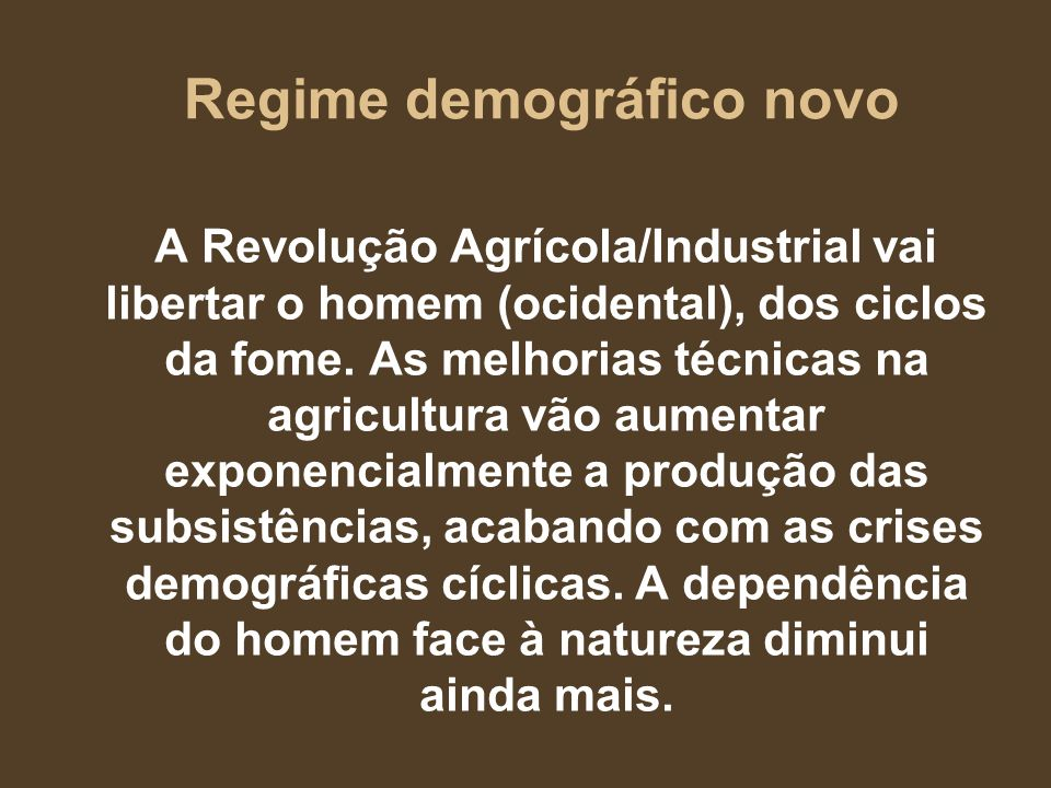 Regime demográfico novo