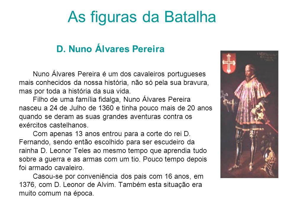 As figuras da Batalha D. Nuno Álvares Pereira