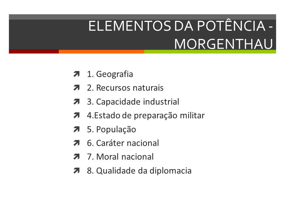 ELEMENTOS DA POTÊNCIA - MORGENTHAU