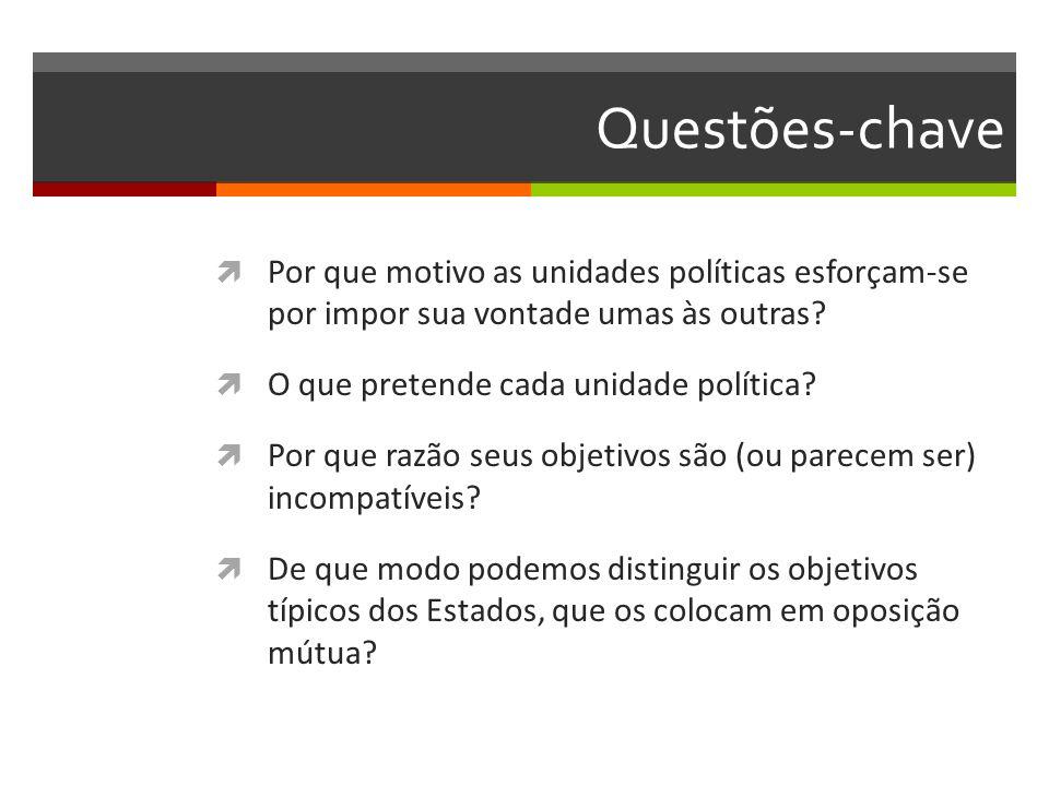 Questões-chave Por que motivo as unidades políticas esforçam-se por impor sua vontade umas às outras