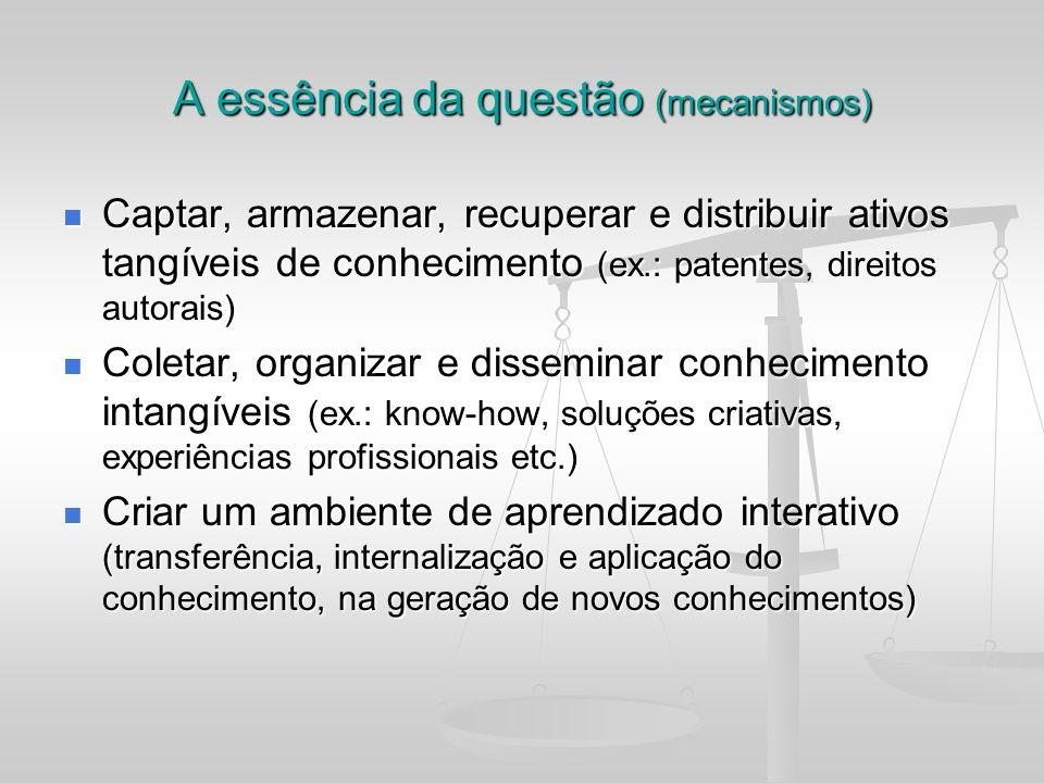 A essência da questão (mecanismos)
