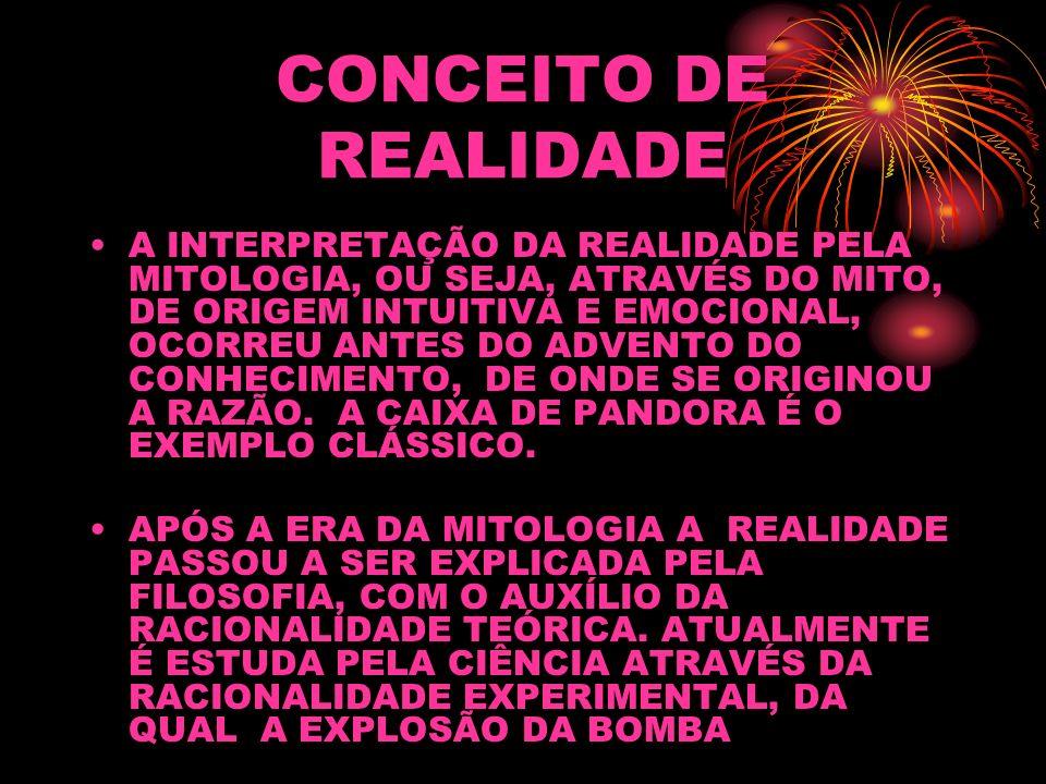 CONCEITO DE REALIDADE