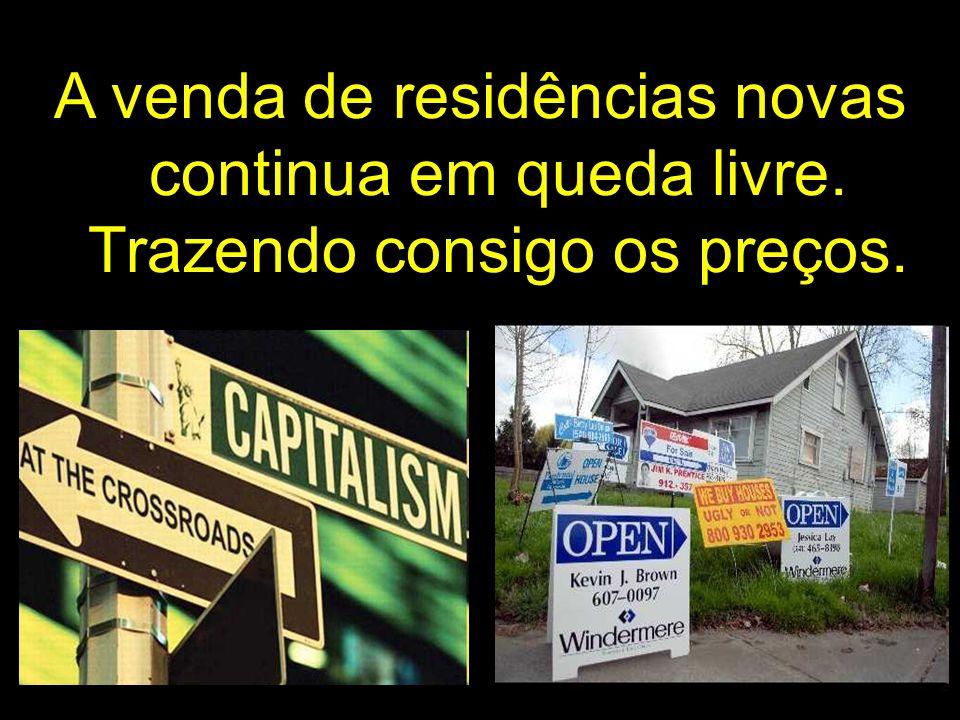 A venda de residências novas continua em queda livre