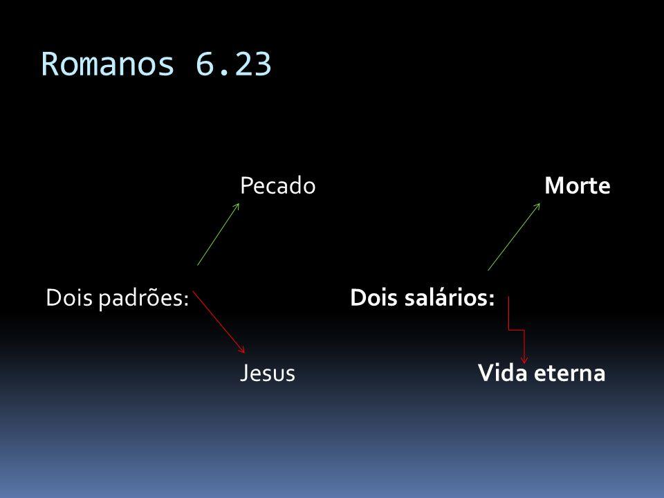 Romanos 6.23 Pecado Dois padrões: Jesus