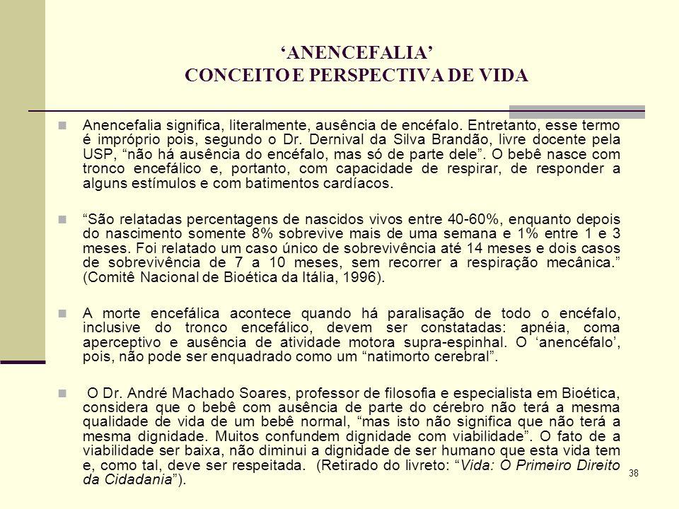 'ANENCEFALIA' CONCEITO E PERSPECTIVA DE VIDA