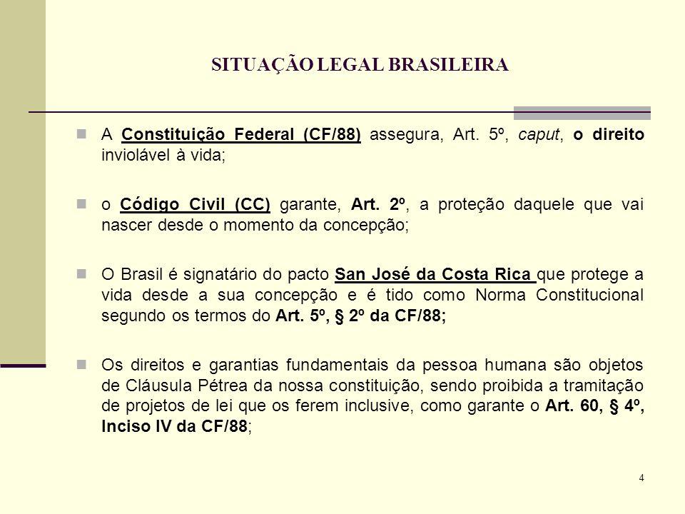 SITUAÇÃO LEGAL BRASILEIRA