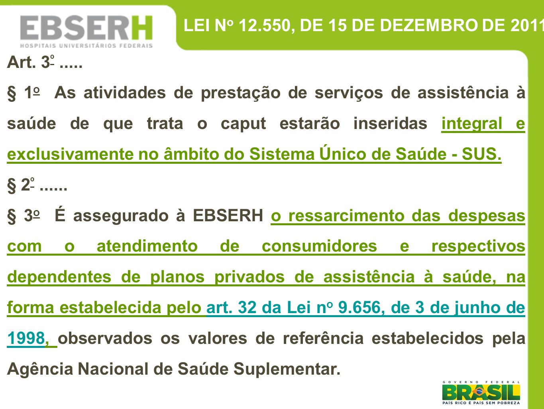 LEI No 12.550, DE 15 DE DEZEMBRO DE 2011Art. 3º .....