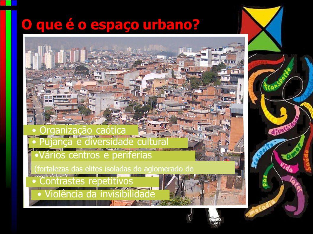 O que é o espaço urbano • Organização caótica