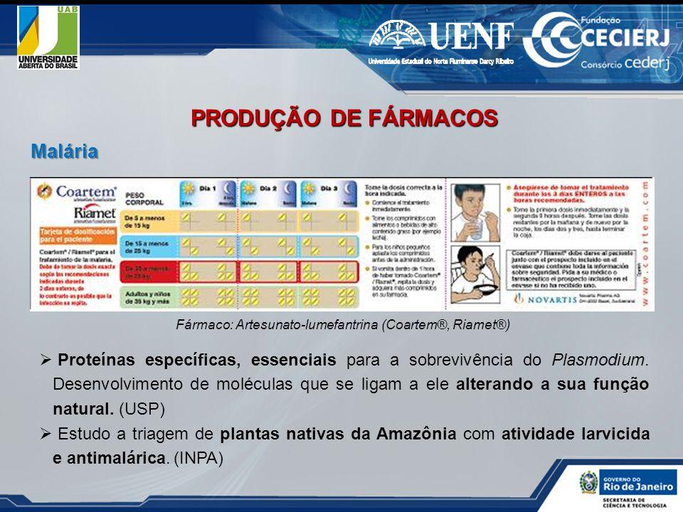 Fármaco: Artesunato-lumefantrina (Coartem®, Riamet®)