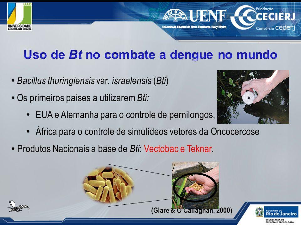 Uso de Bt no combate a dengue no mundo