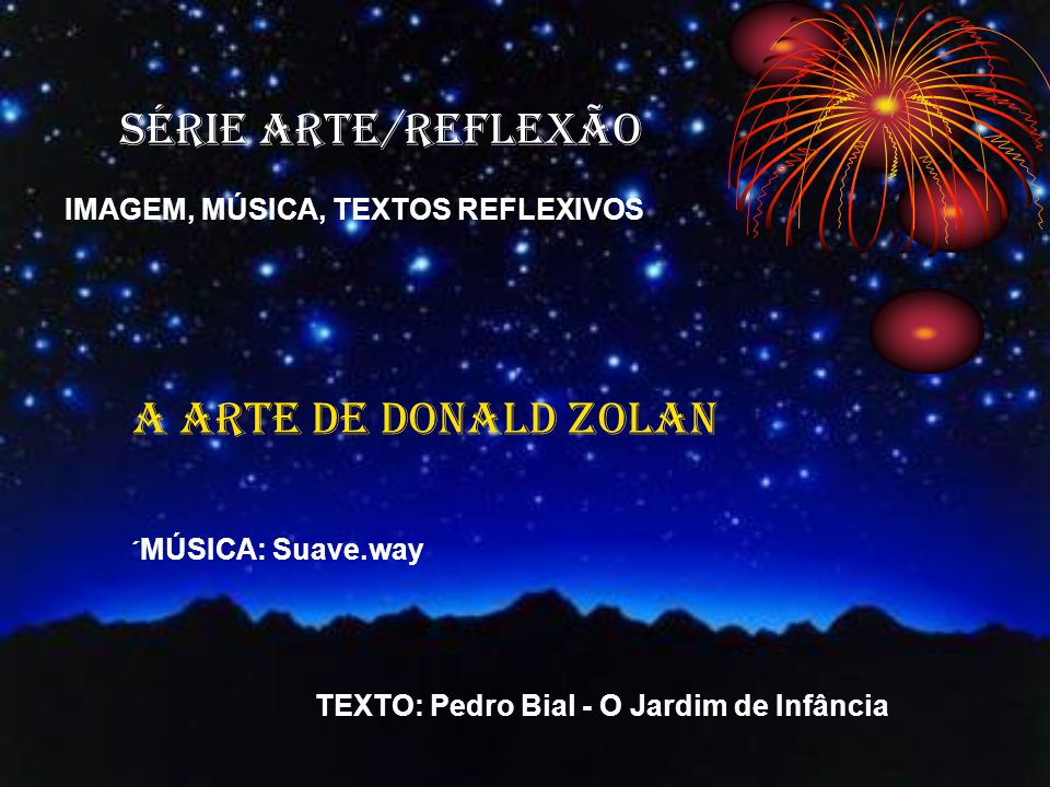 SÉRIE ARTE/REFLEXÃO A ARTE DE DONALD ZOLAN