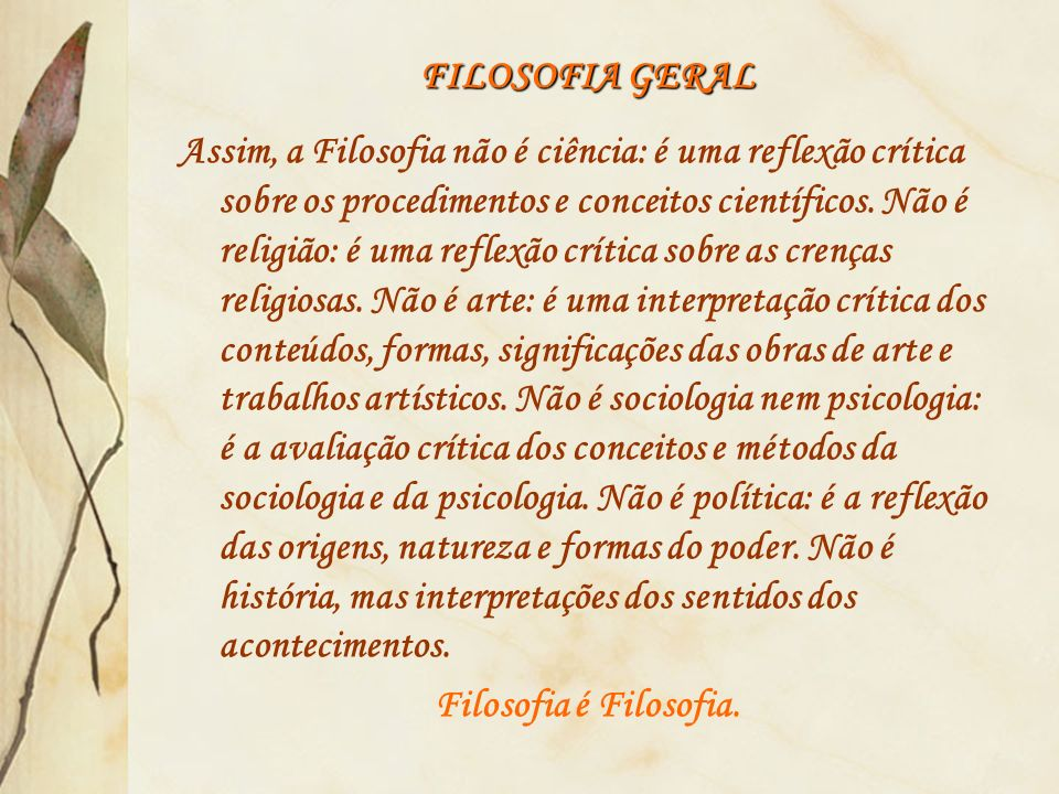 FILOSOFIA GERAL
