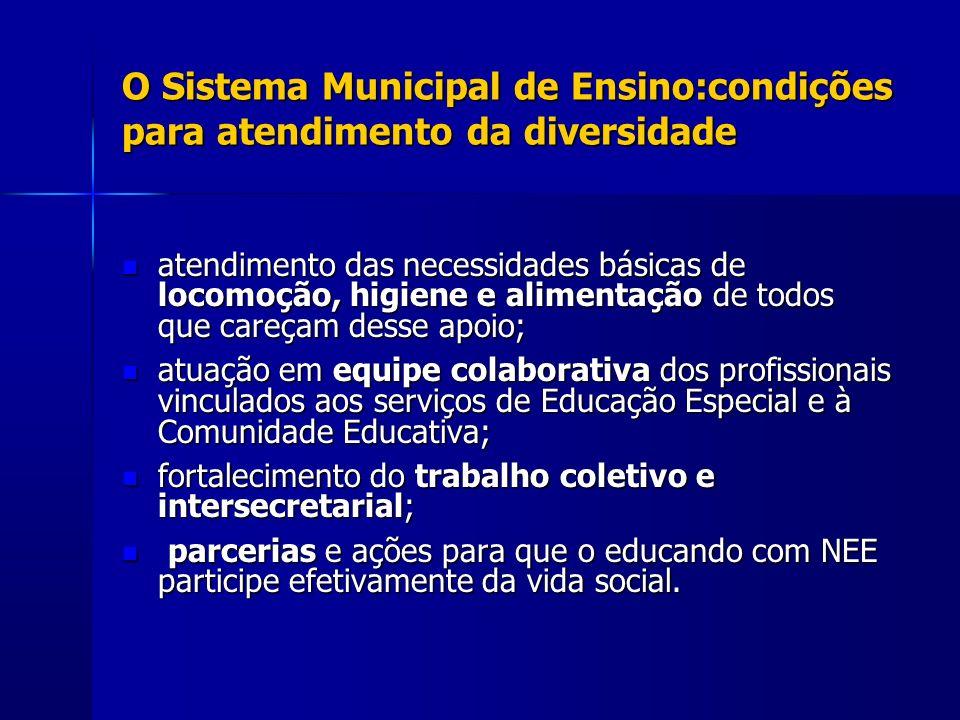 O Sistema Municipal de Ensino:condições para atendimento da diversidade