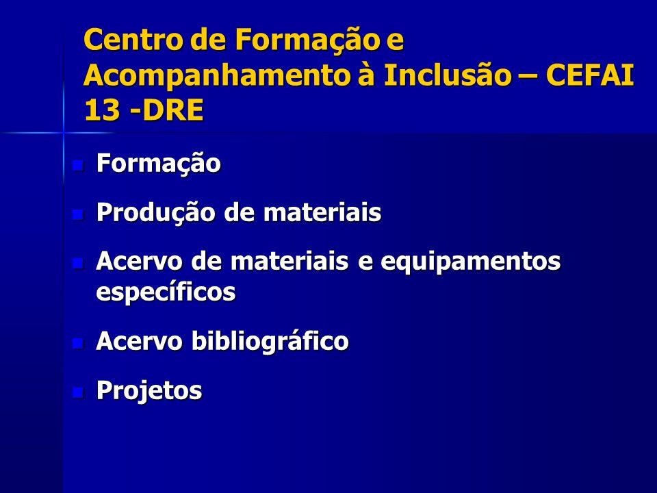Centro de Formação e Acompanhamento à Inclusão – CEFAI 13 -DRE