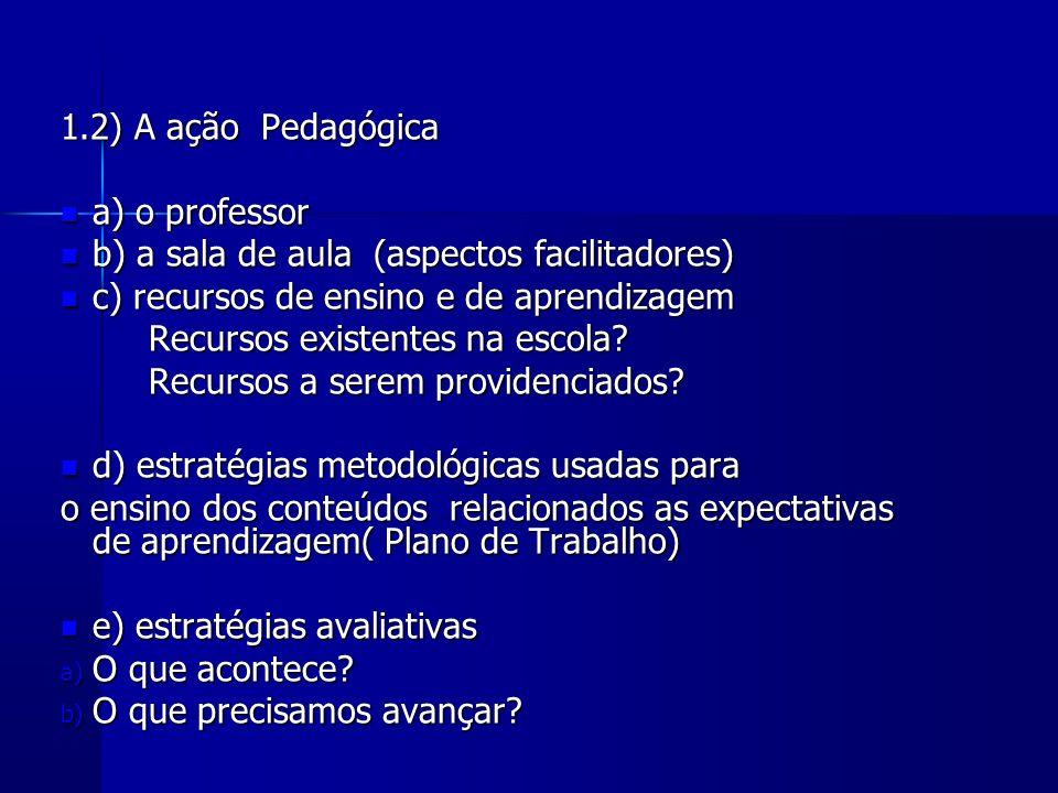 b) a sala de aula (aspectos facilitadores)
