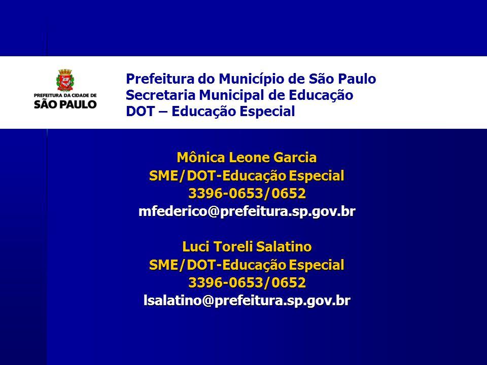 SME/DOT-Educação Especial